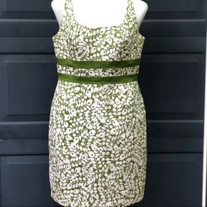 Jessica Howard   Green & White Floral Dress